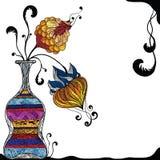 Vaas van bloemen stock illustratie