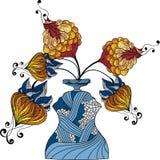 Vaas van bloemen vector illustratie
