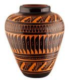 Vaas van het Aardewerk van de Klei van Navajo de Inheemse Amerikaanse Stock Fotografie