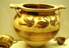 Vaas van oude Mycenae stock afbeeldingen