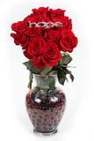 Vaas van rozen royalty-vrije stock afbeeldingen