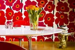 Vaas van tulpen Stock Fotografie