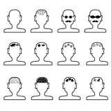 Vacío sirve el esquema de las cabezas Imagen de archivo libre de regalías