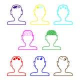 Vacío sirve el esquema de las cabezas Fotos de archivo