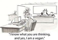 A vaca é vegan Fotos de Stock Royalty Free