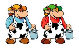 Vaca Ilustração Royalty Free
