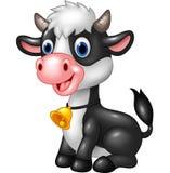 Vaca animal feliz del bebé en una presentación que se sienta Fotos de archivo libres de regalías