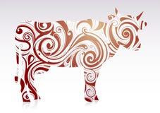 Vaca artística Imagem de Stock Royalty Free