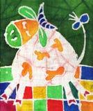Vaca blanca Fotografía de archivo libre de regalías