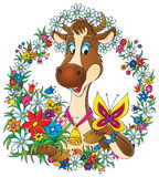 Vaca bonita libre illustration