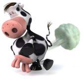 A vaca bonito fart ilustração stock