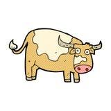 vaca cómica de la historieta Fotografía de archivo libre de regalías