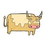 vaca cómica de la historieta Foto de archivo