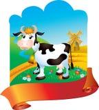 Vaca com fita Imagens de Stock Royalty Free
