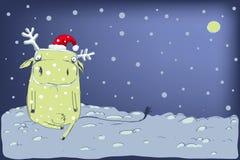 Vaca com os antlers do ano novo Imagem de Stock