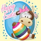 Vaca com ovo Foto de Stock