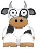 Vaca con el animal chino del Año Nuevo de los ojos grandes ilustración del vector