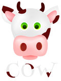 Vaca con las faltas de definición marrones Imagen de archivo libre de regalías