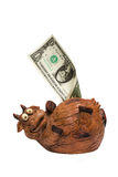 Vaca da economia Imagens de Stock Royalty Free