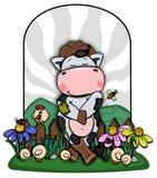 Vaca da exploração agrícola Foto de Stock