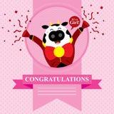 Vaca da festa do bebê Imagens de Stock
