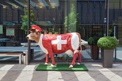 Vaca de China en diseño del suizo Fotos de archivo