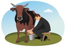 Vaca de dinheiro Foto de Stock Royalty Free