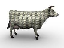 Vaca de dinheiro Fotos de Stock