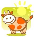 Vaca de la historieta Fotografía de archivo