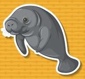 Vaca de mar ilustração do vetor