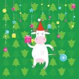 Vaca de santa de la Navidad Imagenes de archivo