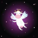 Vaca del Cupid con el corazón stock de ilustración