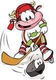 Vaca del hockey   Foto de archivo libre de regalías