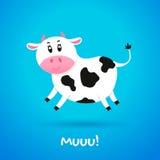 Vaca del personaje de dibujos animados Fotografía de archivo