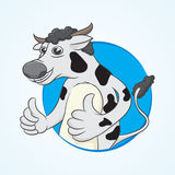 Vaca del pulgar Fotografía de archivo