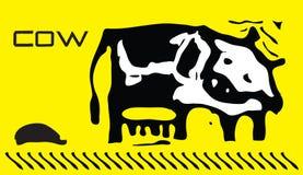 Vaca del vector Fotografía de archivo