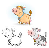 Vaca divertida Imagen de archivo libre de regalías