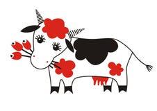 Vaca divertida Fotografía de archivo libre de regalías