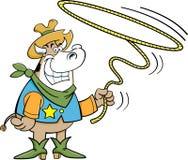 Vaca do Lariat ilustração do vetor