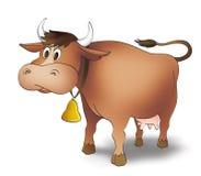 Vaca dos desenhos animados Imagens de Stock