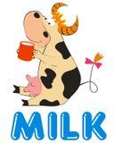 Vaca dos desenhos animados Imagens de Stock Royalty Free