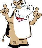 Vaca dos desenhos animados com uma ideia Foto de Stock