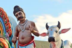 Vaca e homem Fotos de Stock