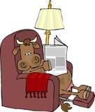 Vaca en una silla fácil ilustración del vector