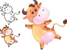 Vaca feliz Ilustración del Vector