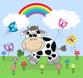 Vaca feliz ilustração royalty free