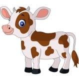 Vaca feliz de la historieta Foto de archivo libre de regalías