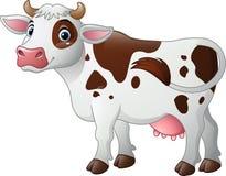 Vaca feliz de la historieta stock de ilustración