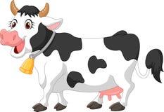Vaca feliz dos desenhos animados Fotos de Stock