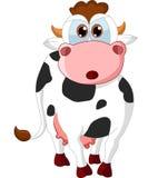 Vaca feliz dos desenhos animados Foto de Stock